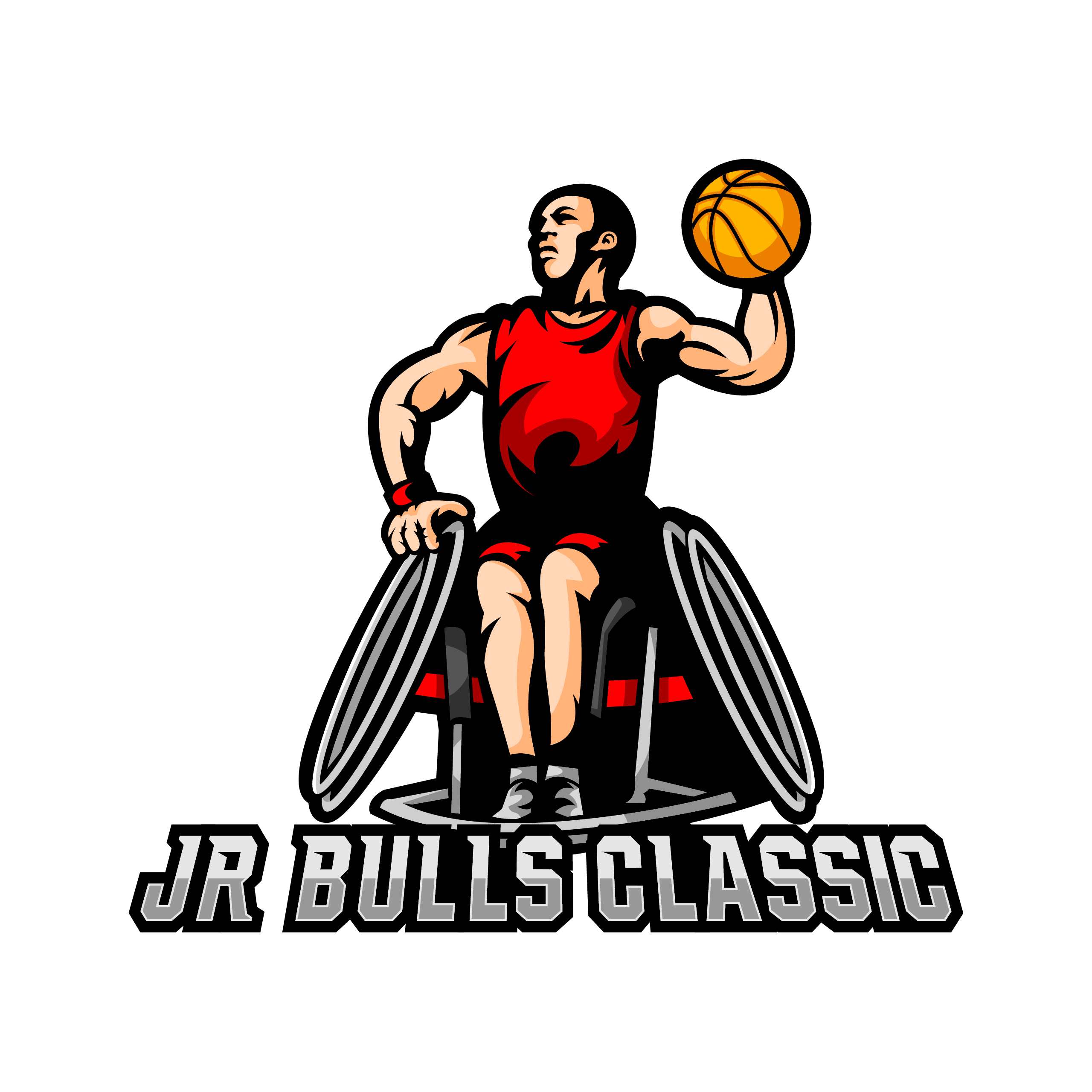 Synergy Jr Bulls Classic wheelchair basketball tourney event logo. Links to event page.